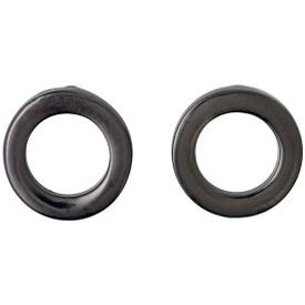 Pilgrim Circle Stud Earrings Hematite Plated 601613063