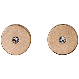 Pilgrim BELLA_PI Stud Earrings Rose Gold Plated Crystal 601534063