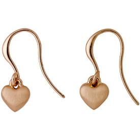 Pilgrim Heart Drop Earrings Rose Gold Plated 601714073