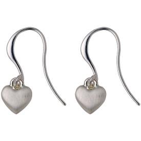 Pilgrim Heart Drop Earrings Silver  Plated 601716073