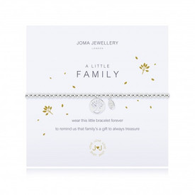 Joma A Little Family Silver Plated Bracelet + Gift Bag/Tag