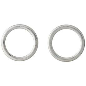 Pilgrim Shapes Circle Stud Earrings Silver Plated 151516003