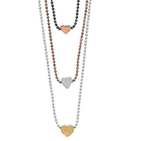 Pilgrim  Gold, Silver and Hematite Plated Necklace 38mm + extender 16121-7121