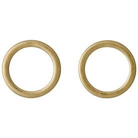 Pilgrim Shapes Circle Stud Earrings Gold Plated 151512003