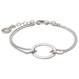 Pilgrim Shapes Circle Bracelet Silver Plated 151516002