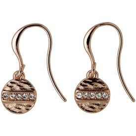 Pilgrim  Grace Drop Earrings Rose Gold Plated Crystal 161724013