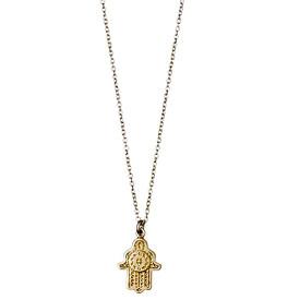 Pilgrim  Aleja Hamsa Hand Necklace Gold Plated 45 + 9cm 181722001