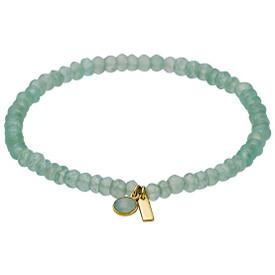 Pilgrim  Aleja Bracelet Gold Plated Green 181722402