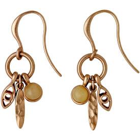 Pilgrim  Kornelia Drop Earrings Rose Gold Plated 201724013