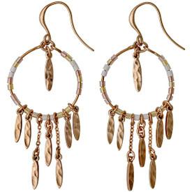 Pilgrim  Kornelia Drop Earrings Rose Gold Plated Nude 201724023