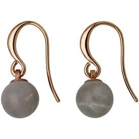 Pilgrim  Drop Earrings Rose Gold Plated Grey 281724113
