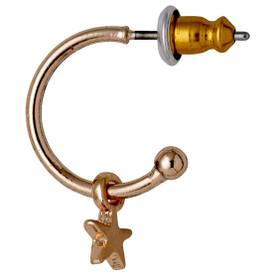 Pilgrim Star Stud Hoop Earrings Rose Gold Plated 611714003