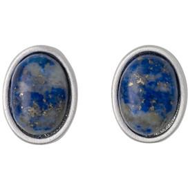 Pilgrim Morrigan Stud Earrings Silver  Plated Blue 201746203