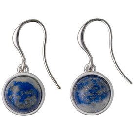 Pilgrim Morrigan Drop Earrings Silver  Plated Blue 201746213
