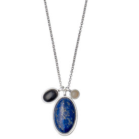 Pilgrim Morrigan Necklace Silver  Plated Blue 50cm 201746211