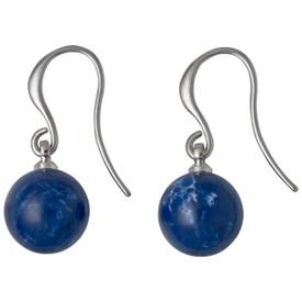 Pilgrim Iselda  Drop Earrings Silver  Plated Blue 191736203