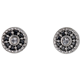 Pilgrim Annag Stud Earrings Silver Plated Crystal 121736003