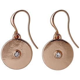 Pilgrim Eilidh Drop Earrings Rose Gold Plated Crystal 161734043
