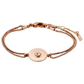 Pilgrim Eilidh Bracelet Rose Gold Plated Crystal 161734002