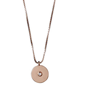 Pilgrim Eilidh Necklace Rose Gold Plated Crystal 161734001
