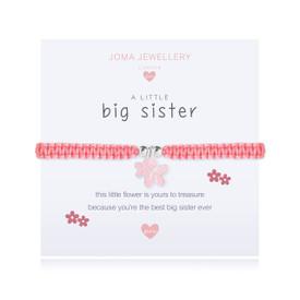 Joma Jewellery a little BIG SISTER - children bracelet + Gift Bag/Tag
