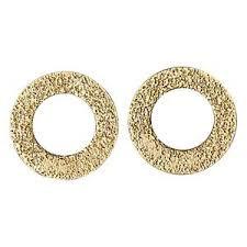 Pilgrim Hoop Stud Earrings Gold Plated 28132-2003