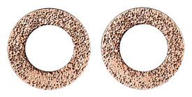 Pilgrim Hoop Stud Earrings Rose Gold Plated 28132-4003
