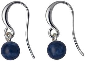 Pilgrim Drop Earrings Silver  Plated Blue 281736263
