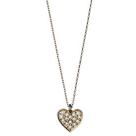 Pilgrim Crystal Heart Necklace Rose Gold Plated 40cm  601614041