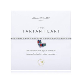 Joma Jewellery A Wee Tartan Heart  Bracelet  + Gift Bag/Tag