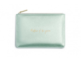 Katie Loxton 'Mother Of The Groom Perfect Pouch/Clutch Bag Metallic Silver