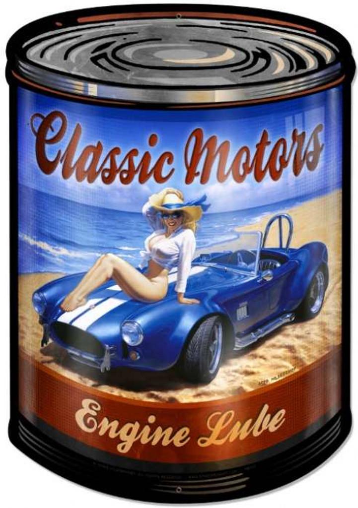 Retro Classic Motors Metal Sign