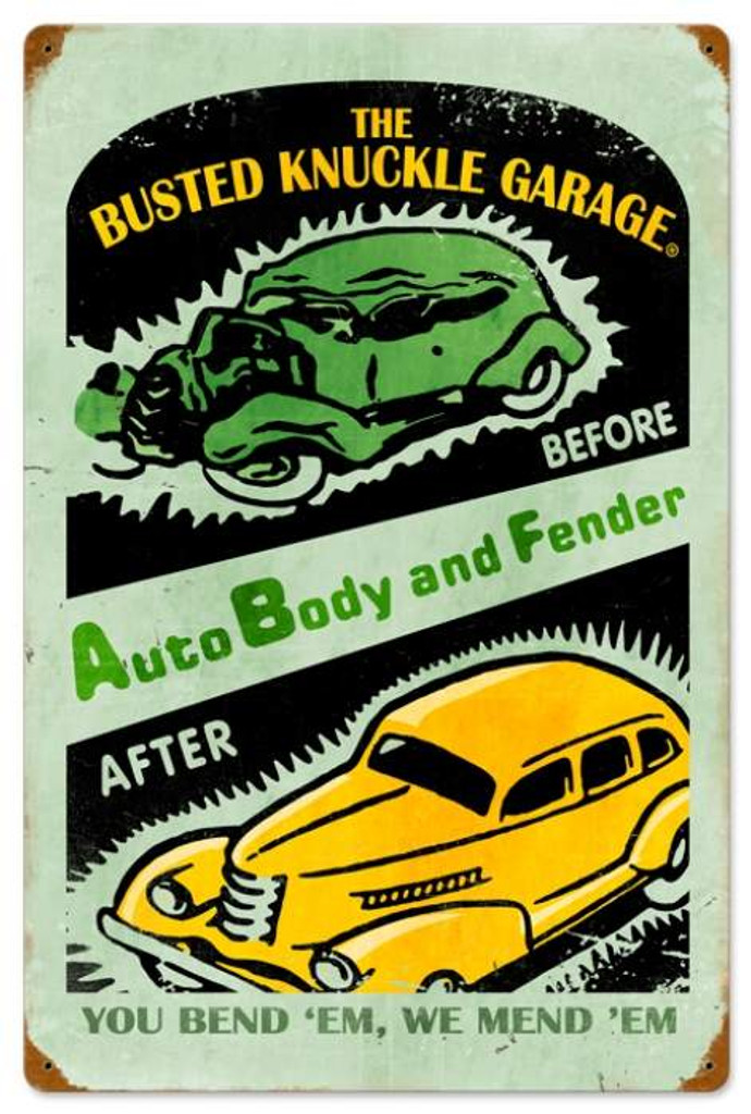 Vintage-Retro Auto Repair Metal-Tin Sign