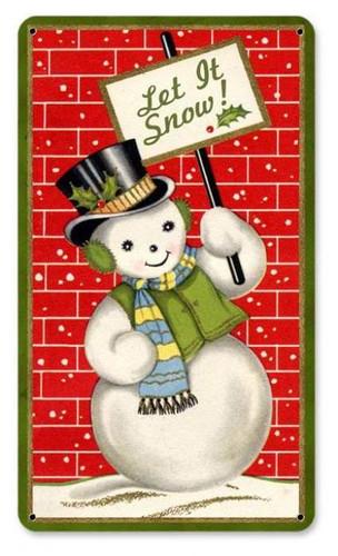 Vintage-Retro Snowman Metal-Tin Sign