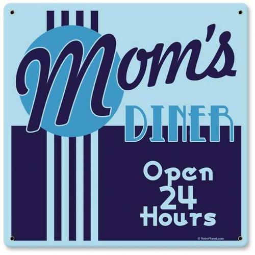 Vintage-Retro Mom's Diner Metal-Tin Sign 3