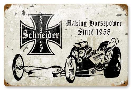 Vintage-Retro Schneider Racing Cams Metal-Tin Sign