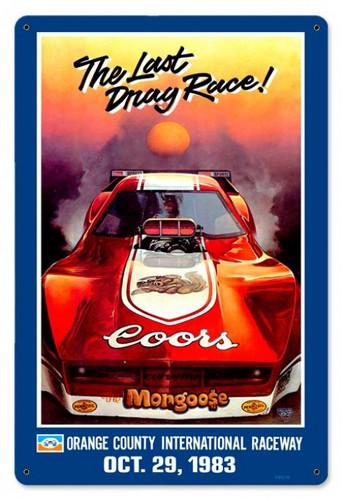 Vintage-Retro Mongoose Orange County Metal-Tin Sign