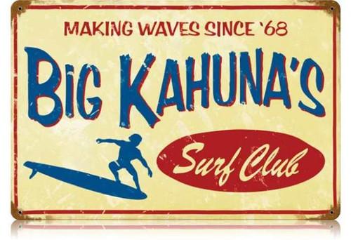 Vintage-Retro Big Kahuna Metal-Tin Sign LARGE