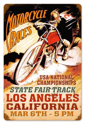 Vintage-Retro LA Motorcycles Metal-Tin Sign