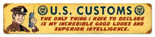 Vintage-Retro US Customs Metal-Tin Sign