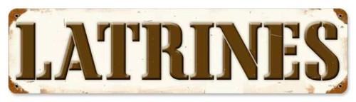 Vintage-Retro Latrines Metal-Tin Sign