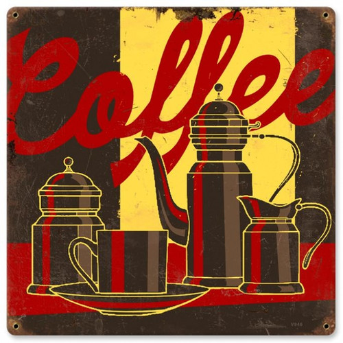 Vintage-Retro Coffee Metal-Tin Sign V946