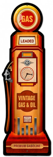 Vintage-Retro Gas Pump Metal-Tin Sign