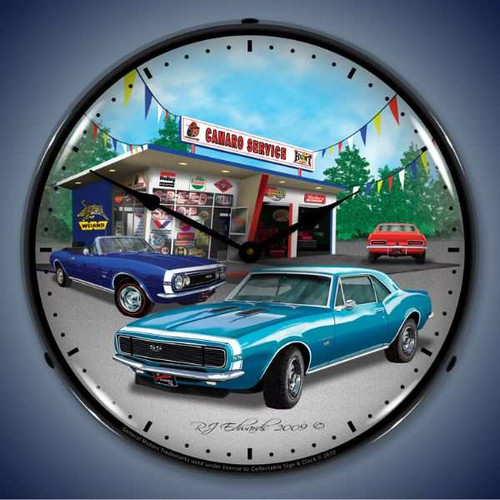 Vintage-Retro  1967 Camaro Lighted Wall Clock