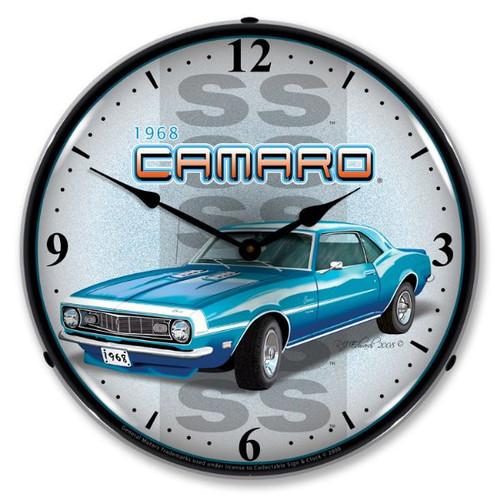 1968 SS Camaro Lighted Wall Clock