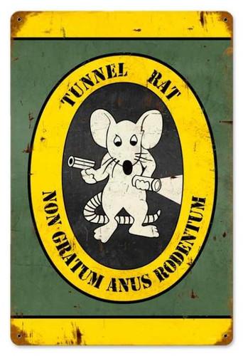 Vintage-Retro Tunnel Rat Metal-Tin Sign