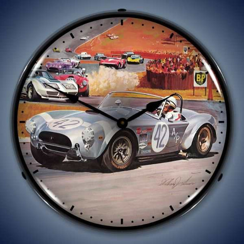 Vintage-Retro  Cobra Race Lighted Wall Clock
