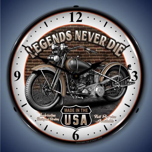 Vintage-Retro  Legends Lighted Wall Clock