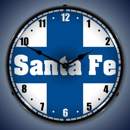 Santa Fe Railroad Lighted Wall Clock
