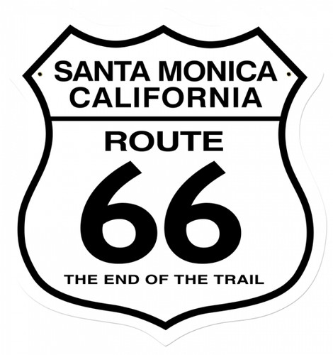 Vintage-Retro Santa Monica Metal-Tin Sign